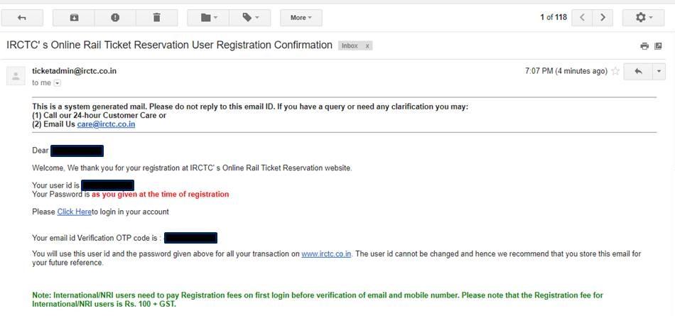 IRCTC sign up 7